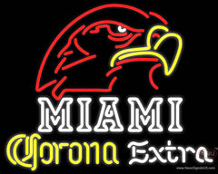 Corona Extra Neon Miami UNIVERSITY Fall Session Real Neon Glass Tube Neon Sign