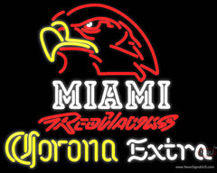 Corona Extra Neon Miami UNIVERSITY Redhawks Real Neon Glass Tube Neon Sign
