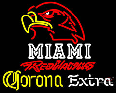 Corona Extra Neon Miami UNIVERSITY Redhawks Neon Sign