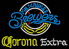 Corona Extra Neon Milwaukee Brewers MLB Neon Sign  7