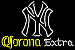 Corona Extra Neon New York Yankees White MLB Neon Sign