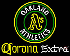 Corona Extra Neon Oakland As MLB Neon Sign  7