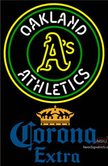 Corona Extra Oakland Athletics MLB Neon Sign