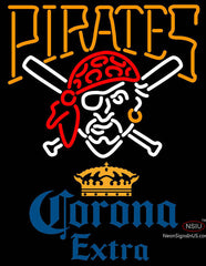 Corona Extra Pittsburgh Pirates MLB Neon Sign