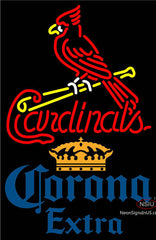 Corona Extra St Louis Cardinals MLB Neon Sign