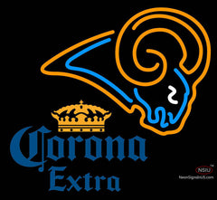 Corona Extra St Louis Rams NFL Neon Sign
