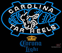 Corona Extra UNC North Carolina Tar Heels Neon Sign