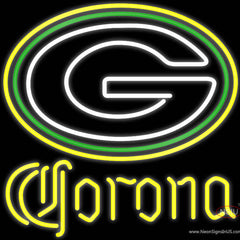 Corona Green Bay Packers NFL Real Neon Glass Tube Neon Sign x