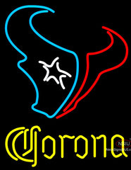 Corona Houston Texans NFL Neon Sign