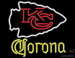 Corona Kansas City Chiefs NFL Real Neon Glass Tube Neon Sign