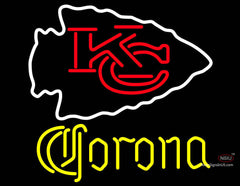 Corona Kansas City Chiefs NFL Neon Sign