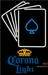 Corona Light Cards Neon Sign