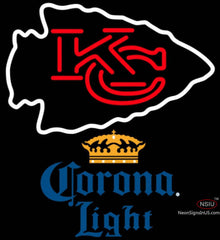 Corona Light Kansas City Chiefs NFL Neon Sign   x