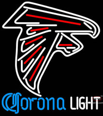 Corona Light Neon Atlanta Falcons NFL Neon Sign
