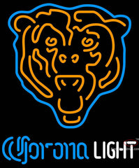 Corona Light Neon Chicago Bears NFL Neon Sign