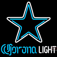 Corona Light Neon Dallas Cowboys NFL Neon Sign