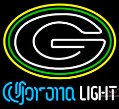Corona Light Neon Green Bay Packers NFL Neon Sign  7