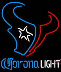 Corona Light Neon Houston Texans NFL Neon Sign  7