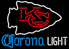 Corona Light Neon Kansas City Chiefs NFL Neon Sign