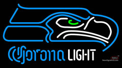 Corona Light Neon Logo Seattle Seahawks NFL Neon Sign