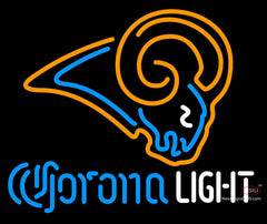 Corona Light Neon Logo St Louis Rams NFL Neon Sign