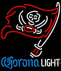 Corona Light Neon Logo Tampa Bay Buccaneers NFL Neon Sign