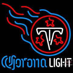 Corona Light Neon Logo Tennessee Titans NFL Neon Sign