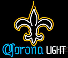 Corona Light Neon New Orleans Saints NFL Neon Sign