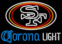 Corona Light Neon San Francisco ers NFL Neon Sign