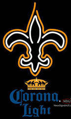 Corona Light New Orleans Saints NFL Neon Sign