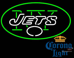Corona Light New York Jets NFL Neon Sign