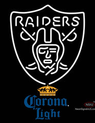 Corona Light Oakland Raiders NFL Neon Sign