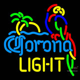 Corona Light Parrot With Palm Neon Beer Signs x