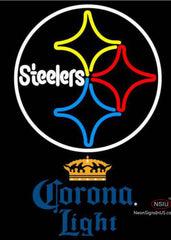 Corona Light Pittsburgh Steelers NFL Neon Sign