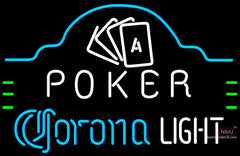 Corona Light Poker Ace Cards Neon Sign