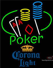 Corona Light Poker Ace Coin Table Neon Sign