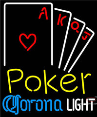 Corona Light Poker Ace Series Neon Sign