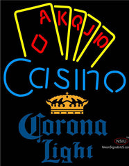 Corona Light Poker Casino Ace Series Neon Sign