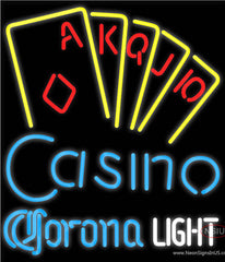 Corona Light Poker Casino Ace Series Real Neon Glass Tube Neon Sign