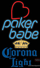 Corona Light Poker Girl Heart Babe Real Neon Glass Tube Neon Sign