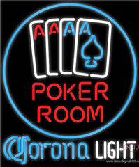 Corona Light Poker Room Real Neon Glass Tube Neon Sign
