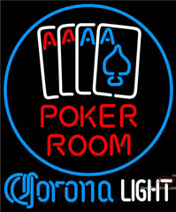 Corona Light Poker Room Neon Sign
