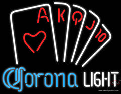 Corona Light Poker Series Real Neon Glass Tube Neon Sign