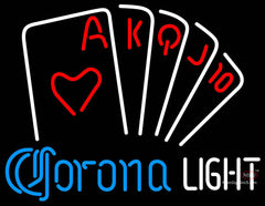 Corona Light Poker Series Neon Sign