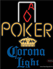 Corona Light Poker Squver Ace Real Neon Glass Tube Neon Sign