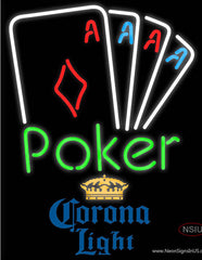 Corona Light Poker Tournament Real Neon Glass Tube Neon Sign