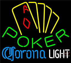 Corona Light Poker Yellow Neon Sign