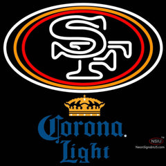 Corona Light San Francisco ers NFL Neon Sign