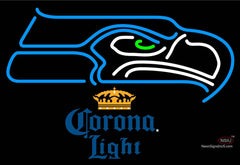 Corona Light Seattle Seahawks NFL Neon Sign