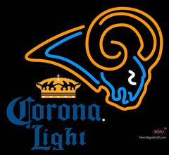 Corona Light St Louis Rams NFL Neon Sign   x